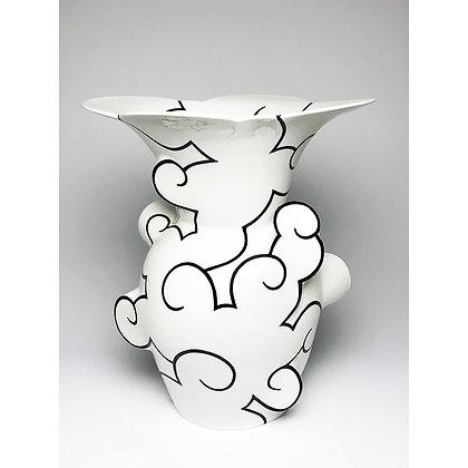 Flared Cloud Vase // Black