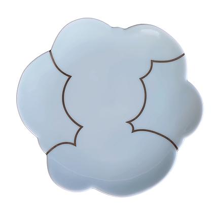 Celadon Cloud Plate / LARGE // Platinum
