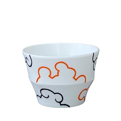 Translucent Cloud Cup // Orange+Black / #34