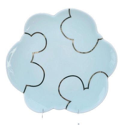 Celadon Cloud Plate / LARGE // Gold #2