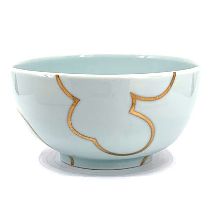 Celadon Cloud Rice Bowl #38