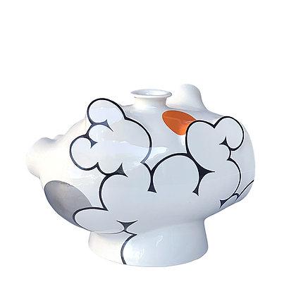 Cloud Janggun Vase 2 // Platinum + Orange