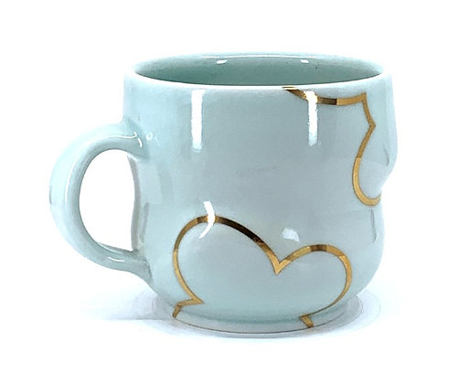 Celadon Cloud Mug // Gold # 37