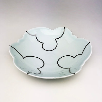 Cloud Serving Bowl // Platinum Clouds Inside & Outside