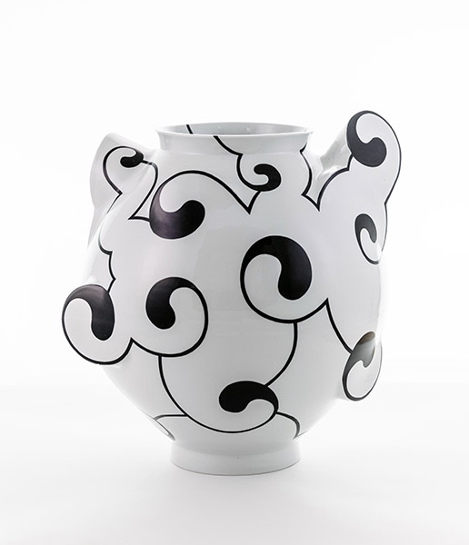 Yin Yang Moon Jar