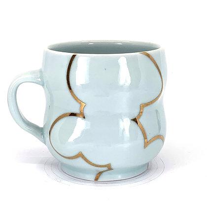 Celadon Cloud Mug // Gold # 24