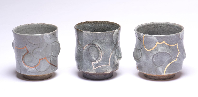 Stoneware Luster Yunomis