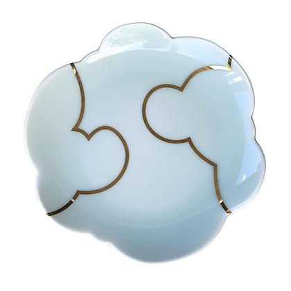 Celadon Cloud Plate / MEDIUM // Gold #2