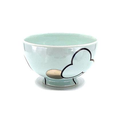 Celadon Cloud+Suns Rice Bowl #56