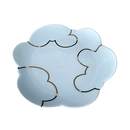 Celadon Cloud Plate / LARGE // Gold #3