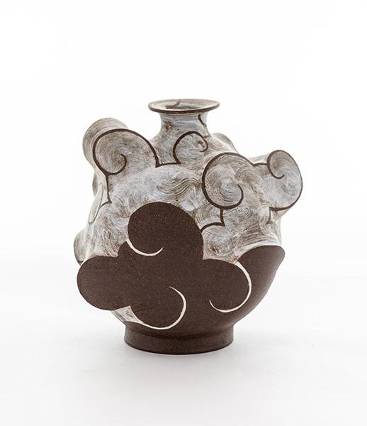 Stoneware Cloud Flask 2019
