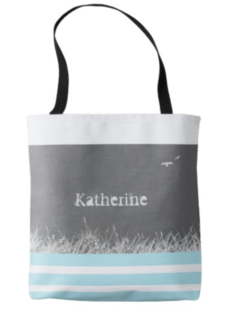 Gray Bird Tote Bag