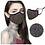Thumbnail: Fashionable Face Mask for Women - Rhinestone Crystals