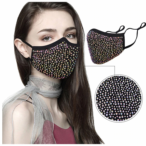 Fashionable Face Mask for Women - Rhinestone Crystals