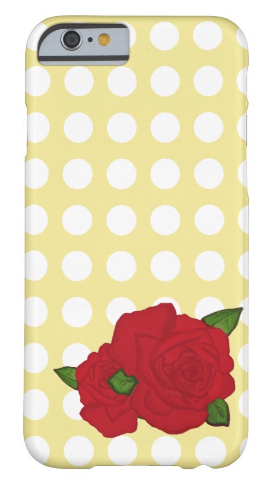 Rose Polka-dot Cell Phone Case