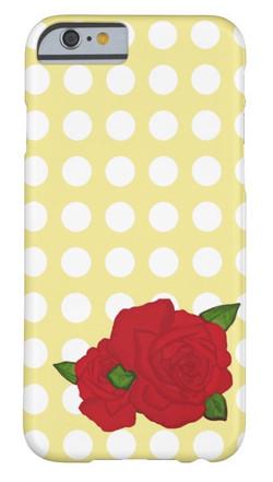 Rose Polka-dot Cell Phone Case