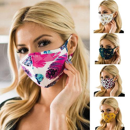 Anti-dust Cotton Masks | Floral, Leopard, Camo