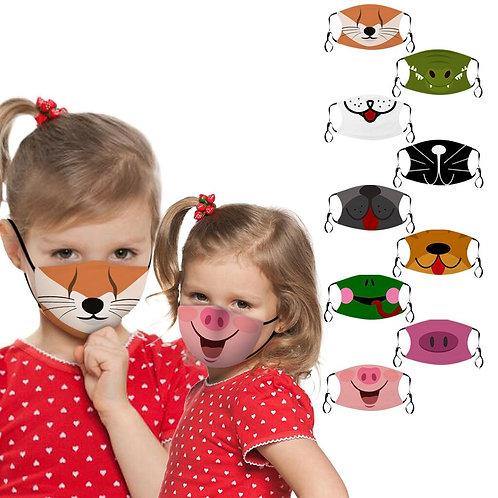 Kids' Face Mask - Cartoon Animal Faces