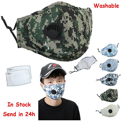Face Mask with Respirator and Optional Filter