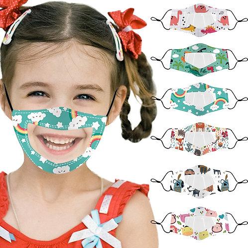 Semi-transparent Face Masks for Kids