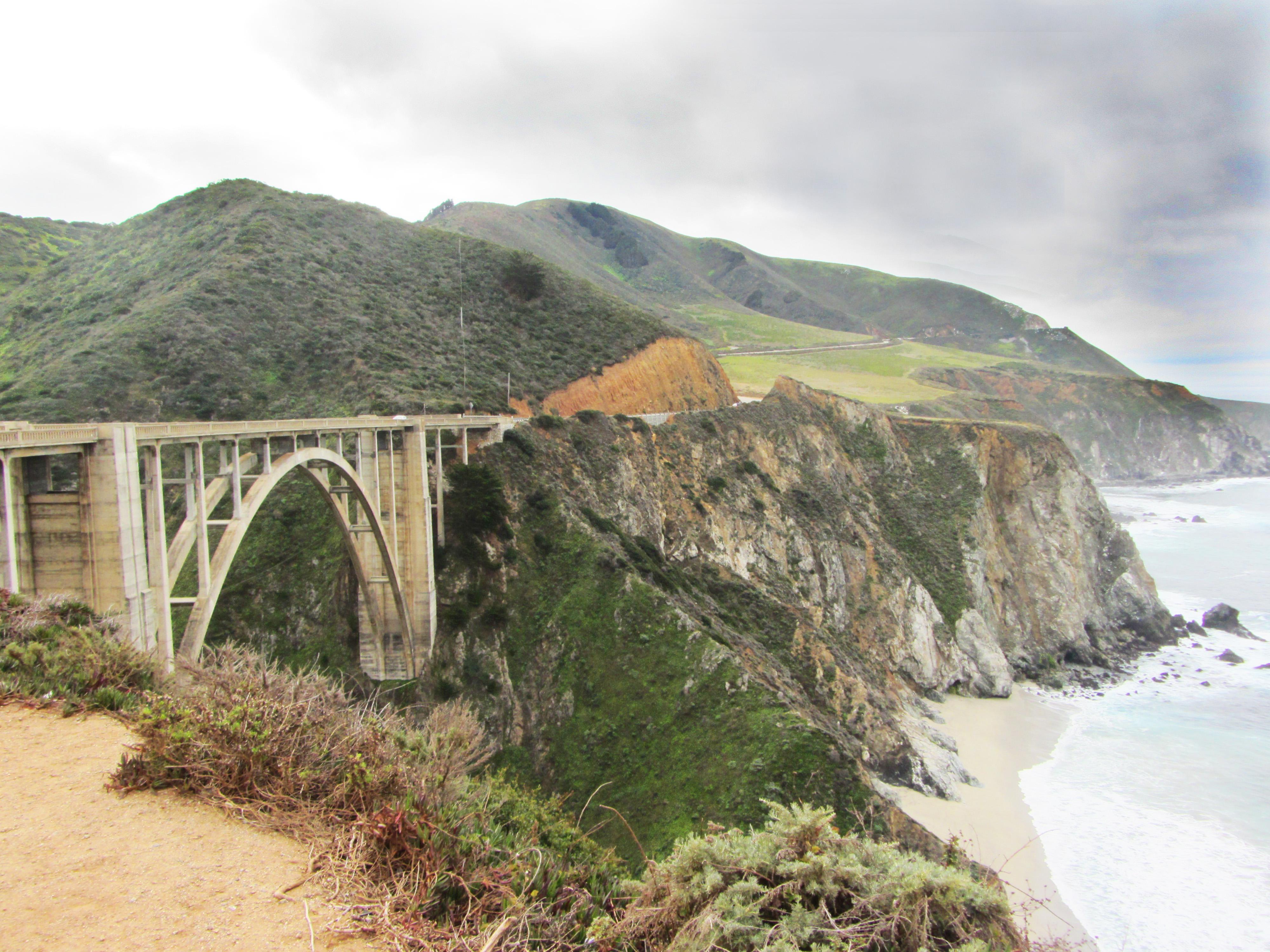 Bridge by the ocean Big Sur, CA