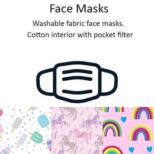 Washable Face Masks - 3-pack