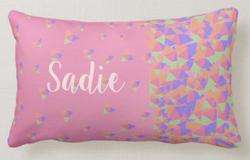 Pink Geometric Pillow