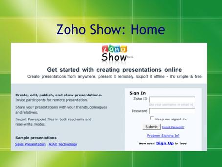 Zoho Show - A Online Presentation Tool