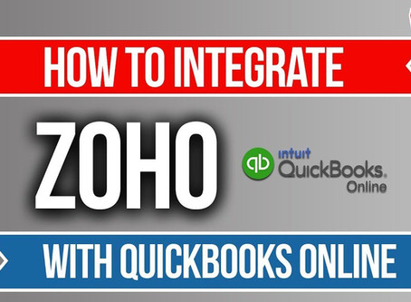 Zoho CRM and Quickbooks Online Integration!