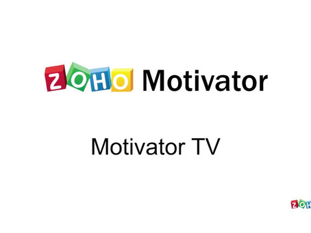 Zoho Motivator - An Insight Driven Software