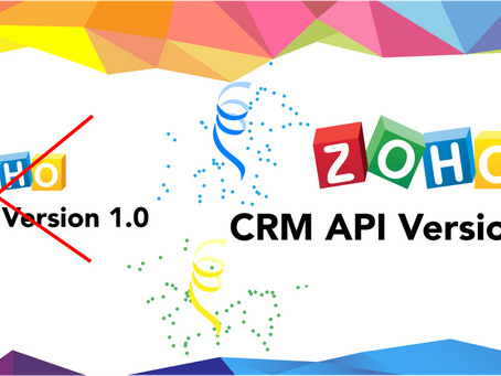 Update for Zoho API V1.0 to V2.0 at No Cost (Valid till 31st Dec 2019)
