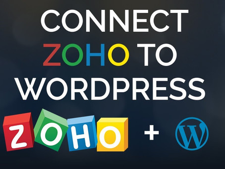 WordPress Integration With Zoho CRM!