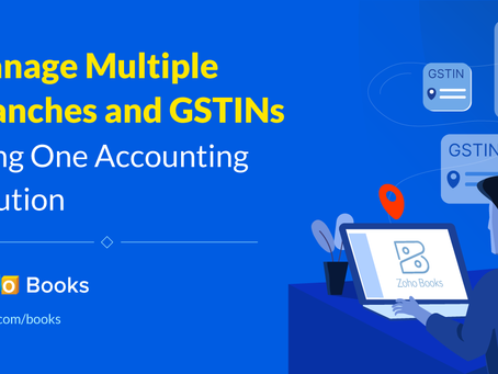 How to Manage GST in Zoho Books?