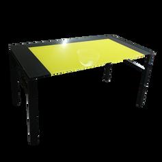 Escrivaninha de Vidro Amarela