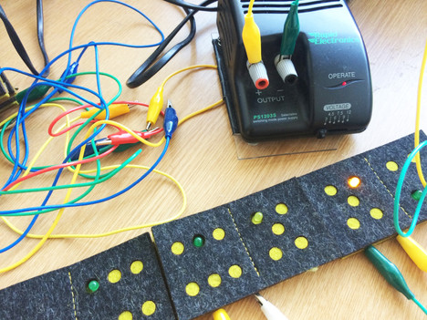 E-textile Dominoes: Textile Connections Doctoral Research