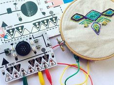 E-textile Embroidery: Textile Connections Doctoral Research
