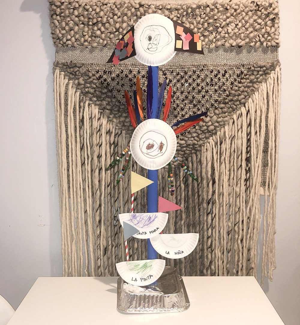 Kid's totem pole craft