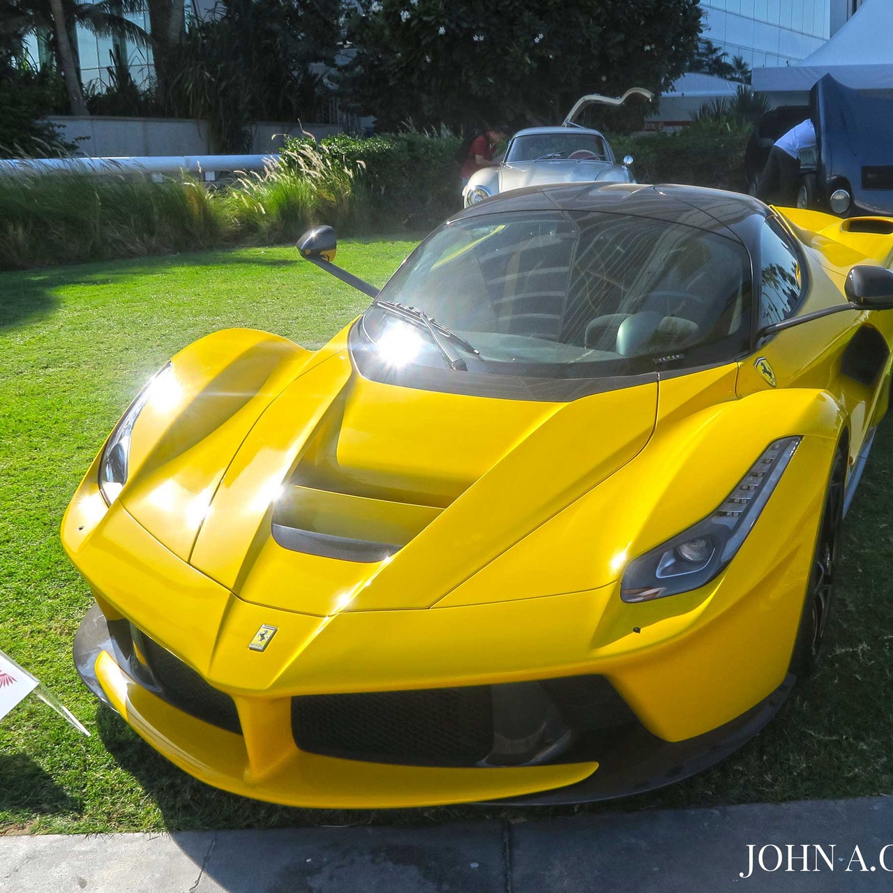 This bright yellow 2015 LaFerrari is the first one produced.
