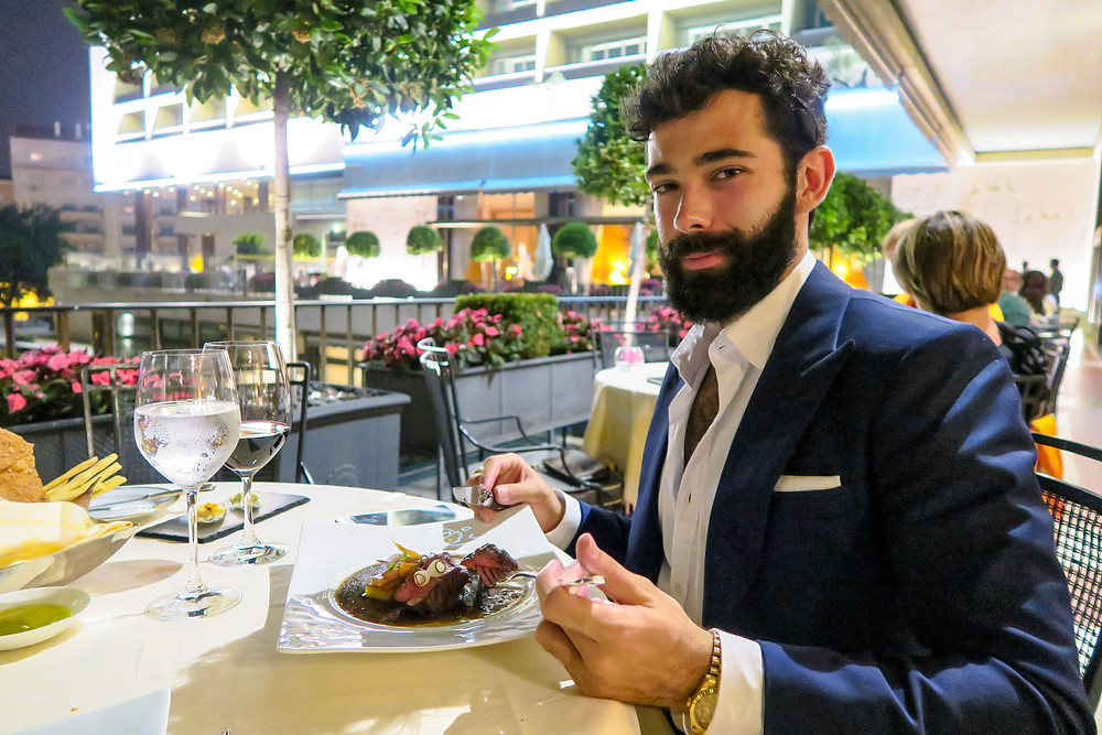 Dinner at the Varanda restaurant in the Four Seasons Ritz Lisbon hotel