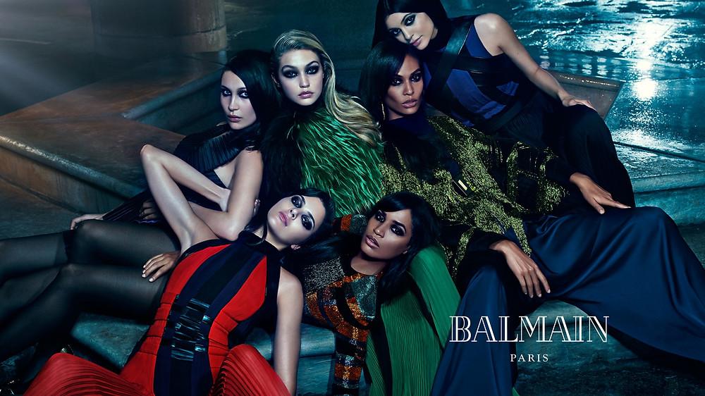 Balmain Campaign featuring Kendall Jenner and Gigi Hadid