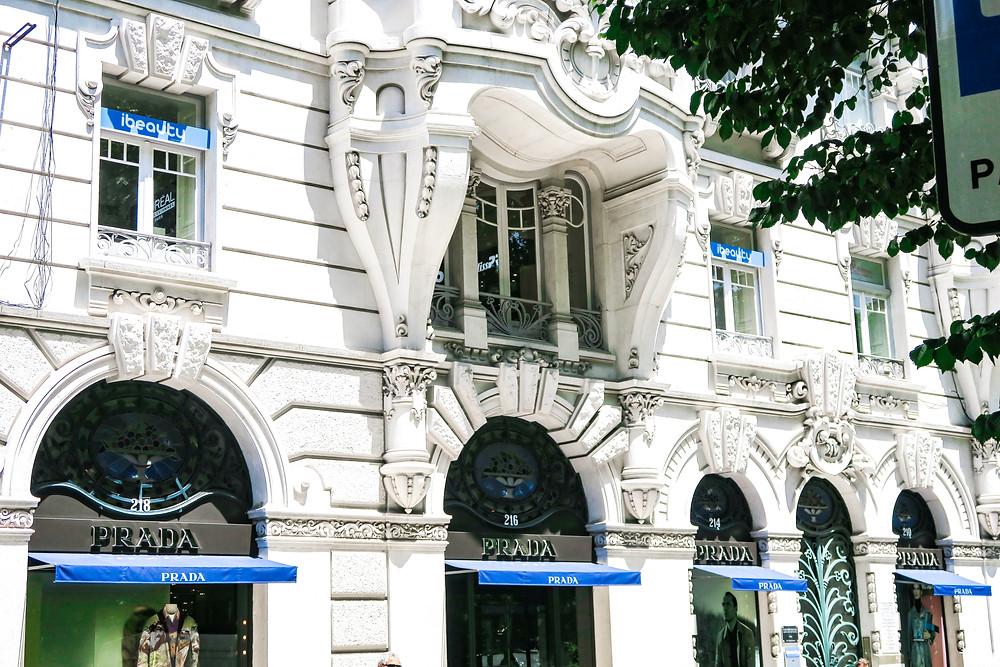 Prada store in Lisbon