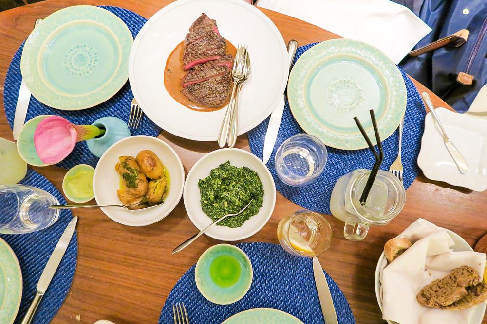 Dinner table at Flores do Bairro at Hotel do Bairro Alto