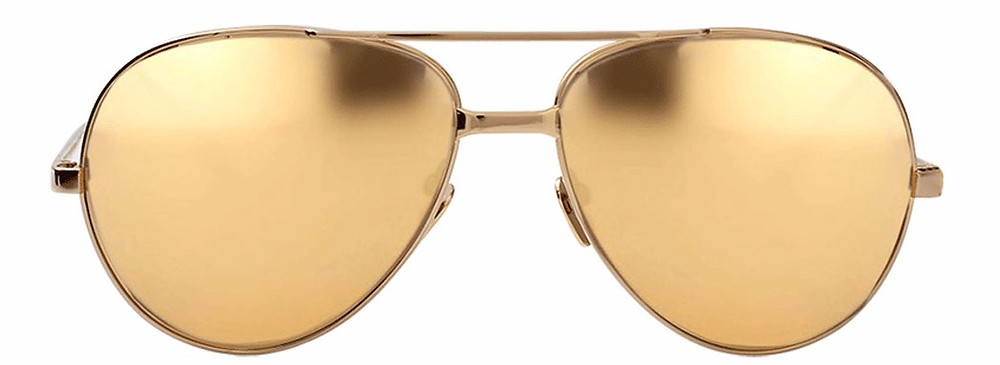 Linda Farrow 398 C5 Gold Aviators