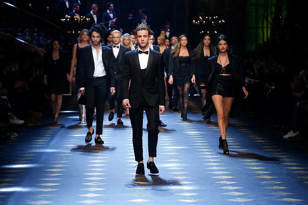 Models closing the 2017/2018 Fall Winter Dolce & Gabbana Show - celebrities influencers royals