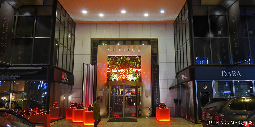Entrance of Sofitel Lisbon Avenida