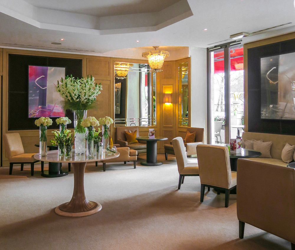 Le Richemond's lobby in Geneva, Switzerland