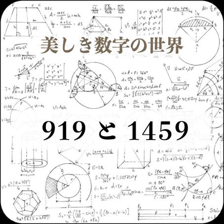 [#029] 919と1459