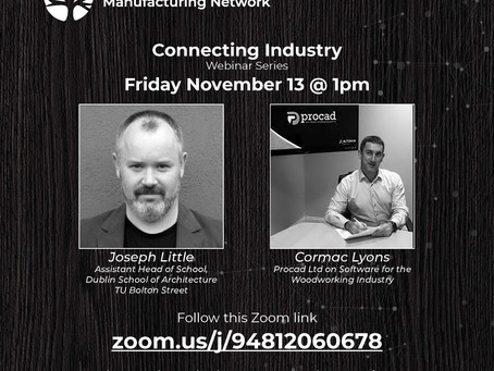 Connecting Industry Webinar - Friday 13th November 1-2pm.