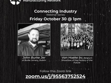 Friday 30th October Webinar at 1pm.