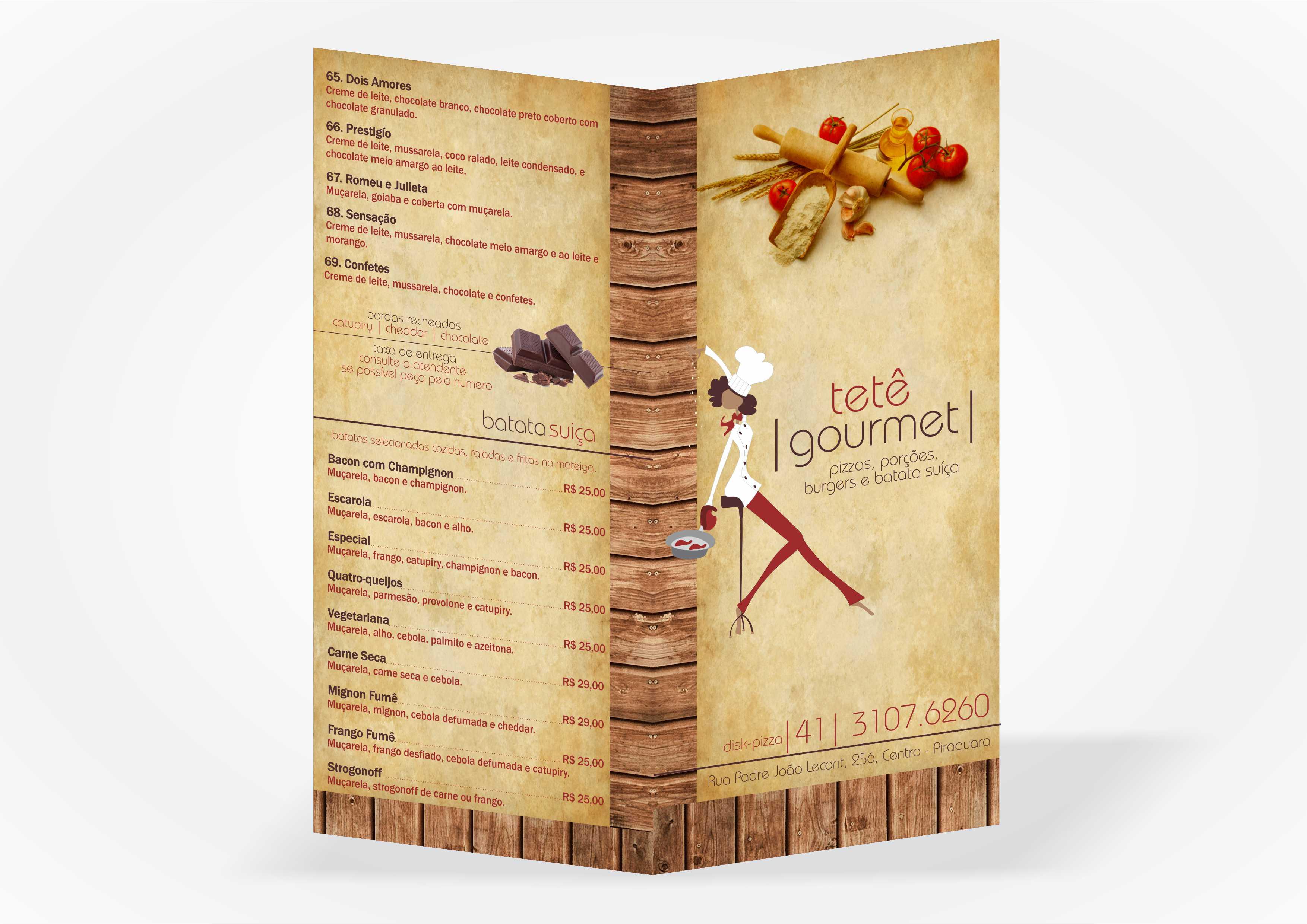 Cardápio Tete Gourmet